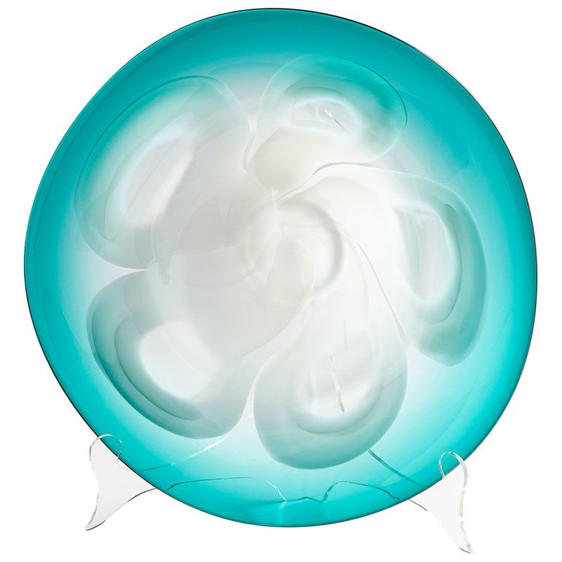 Cyan Design Small Flower Power Plate Flower Power 16 Inch Diameter