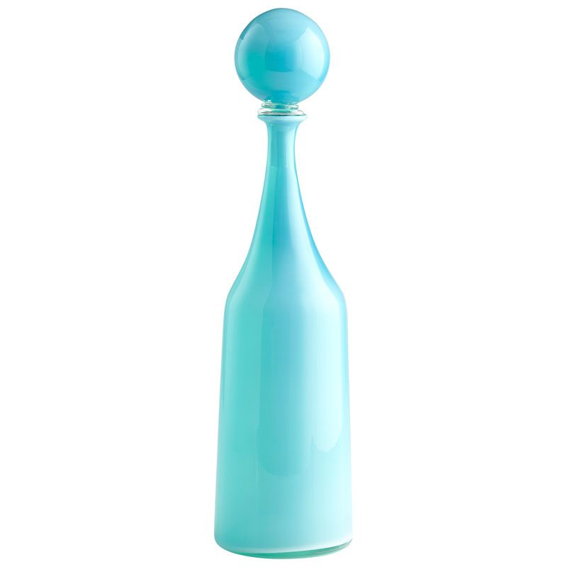 Cyan Design Small Lyla Container Lyla 22 Inch High Glass Decanter Sky