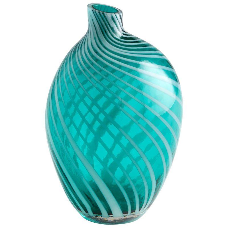 Cyan Design Medium Prague Vase Prague 10 Inch Tall Glass Vase Teal