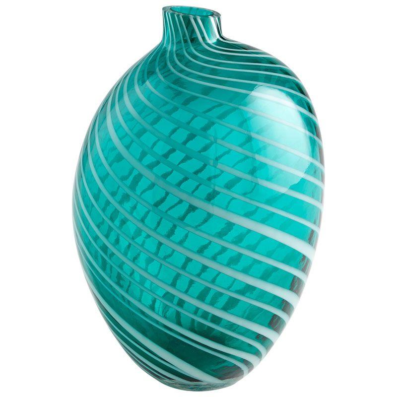 Cyan Design Large Prague Vase Prague 10.5 Inch Tall Glass Vase Teal