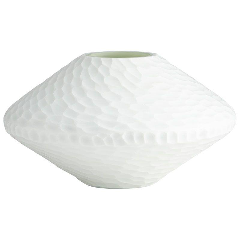 Cyan Design Buttercream Vase Buttercream 5.5 Inch Tall Glass Vase