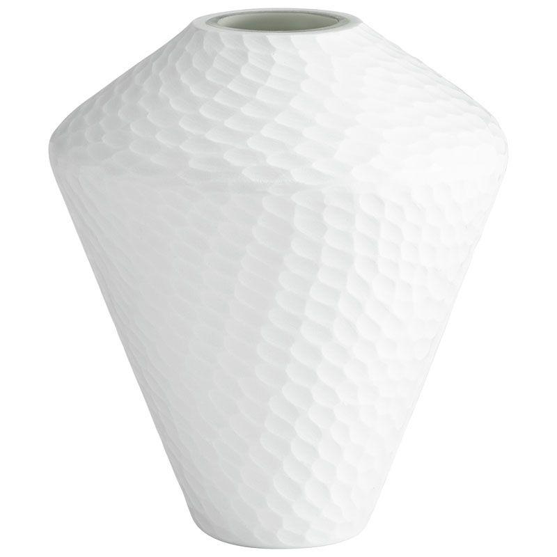 Cyan Design Small Buttercream Vase Buttercream 11.5 Inch Tall Glass