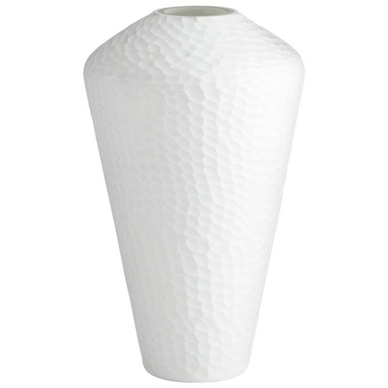Cyan Design Large Buttercream Vase Buttercream 15.25 Inch Tall Glass