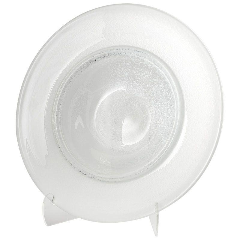 Cyan Design Small Helsinki Plate Helsinki 20.5 Inch Diameter Glass