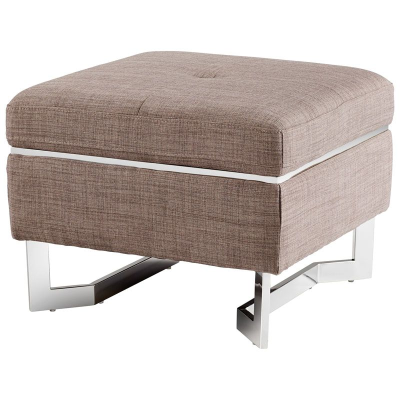Cyan Design Vidal Ottoman Vidal Square Wood and Foam Ottoman Grey