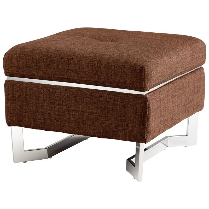 Cyan Design Stokely Ottoman Stokely Square Wood and Foam Ottoman