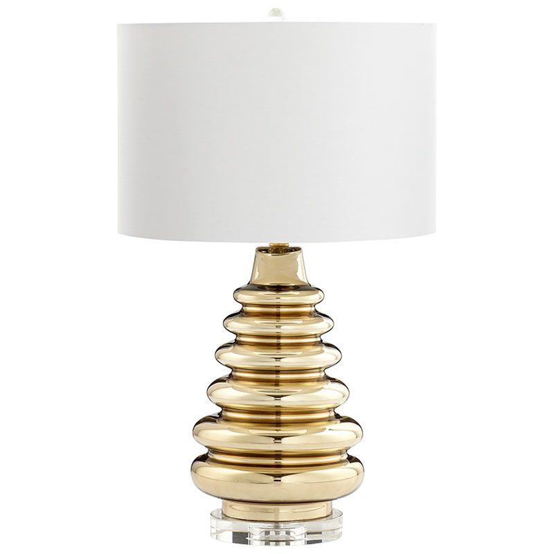 Cyan Design Auva Lamp Auva 1 Light Accent Table Lamp with White Shade