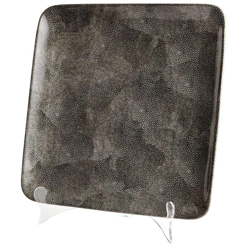 Cyan Design Large Mamba Tray Mamba 13.25 Inch Wide Ceramic Tray Grey