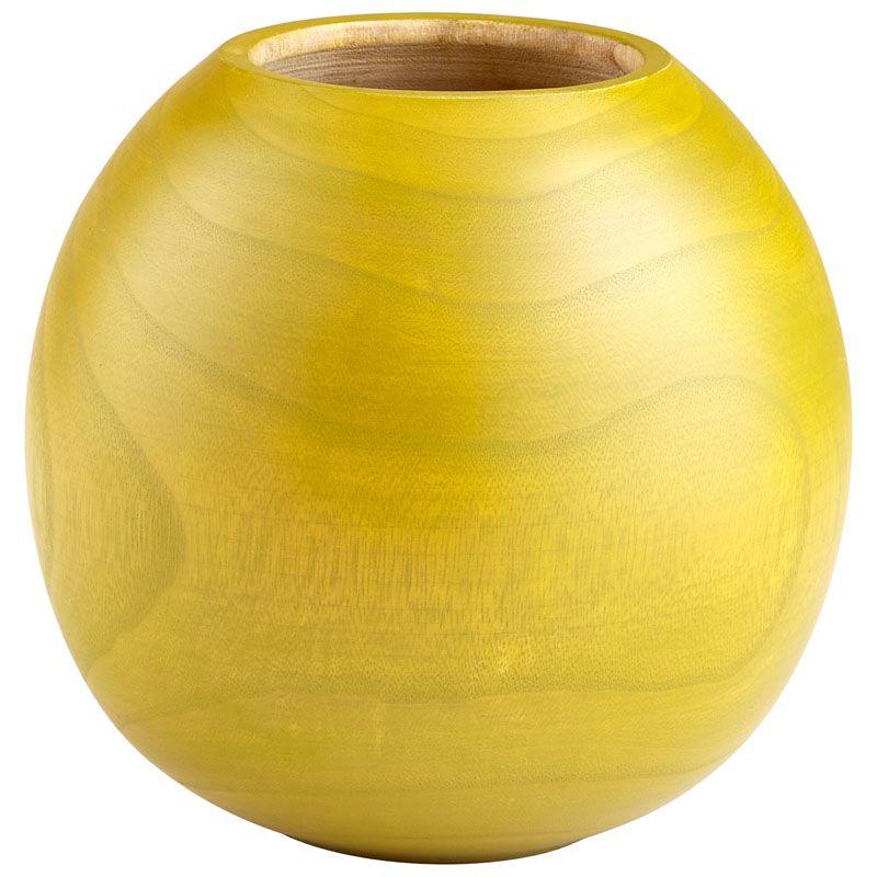 Cyan Design Small Jupiter Vase Jupiter 9 Inch Tall Wood Vase Lime