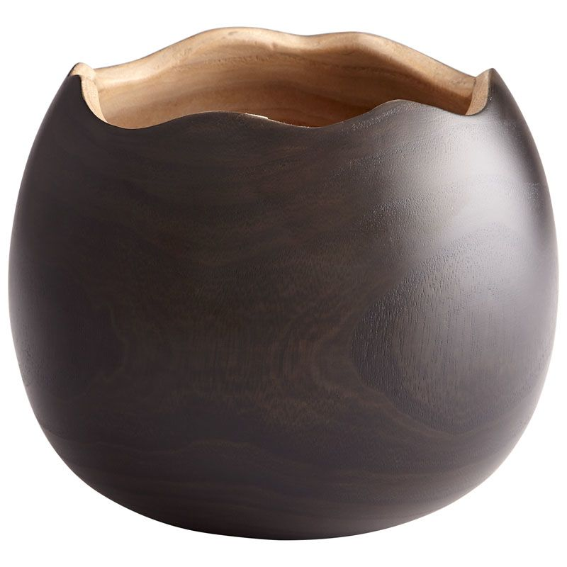 Cyan Design Large Bol Noir Vase Bol Noir 6.75 Inch Tall Wood Vase