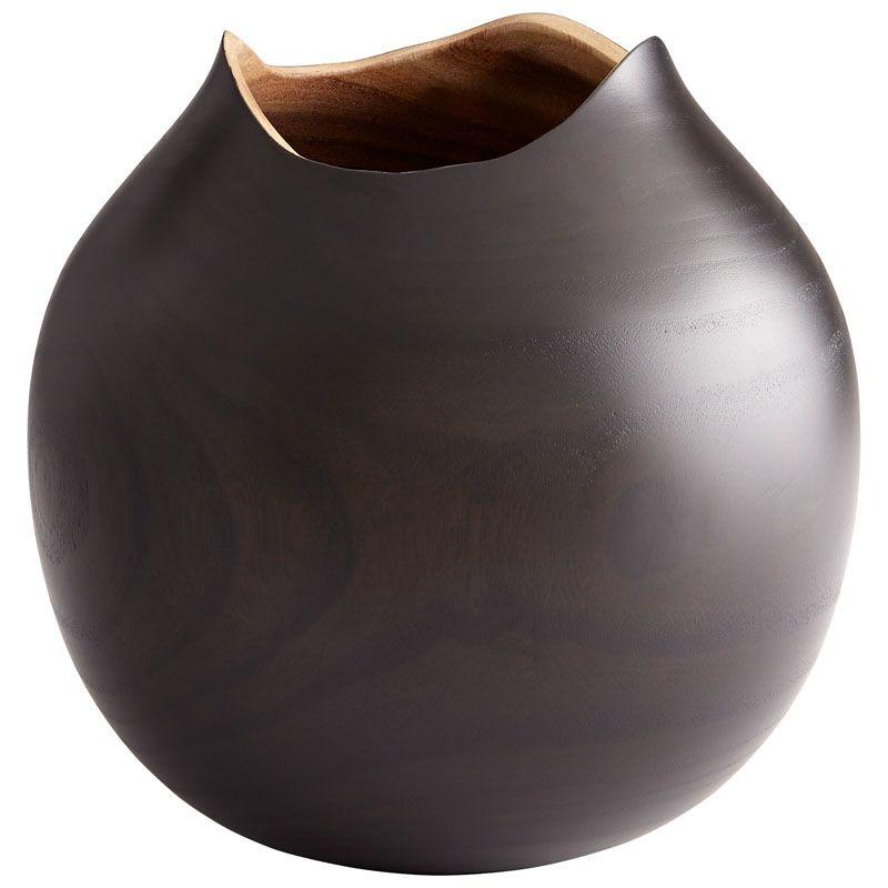 Cyan Design Large Sombra Vase Sombra 9.5 Inch Tall Wood Vase Black