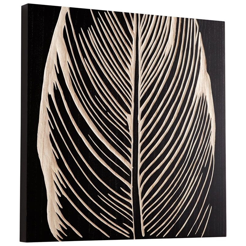 Cyan Design Pompano Wall Art Pompano 23.75 x 23.75 Wood Wall Art Black