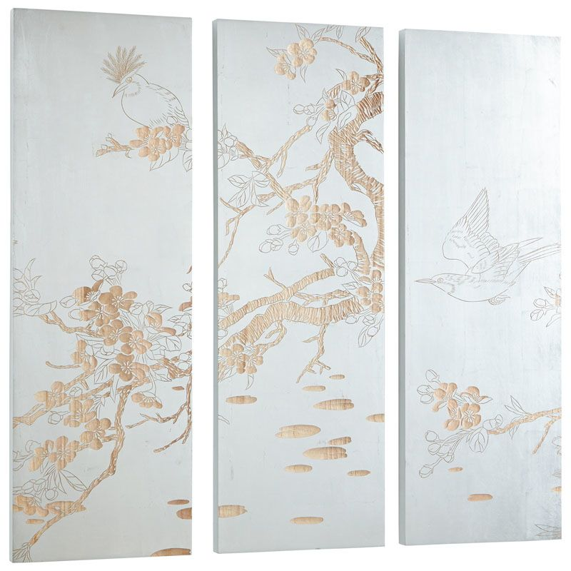 Cyan Design Osaka Wall Art Osaka 47.25 x 47.25 Wood Wall Art White and