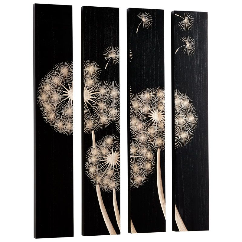 Cyan Design Float On Wall Art Float On 47.25 x 32 Wood Wall Art Black