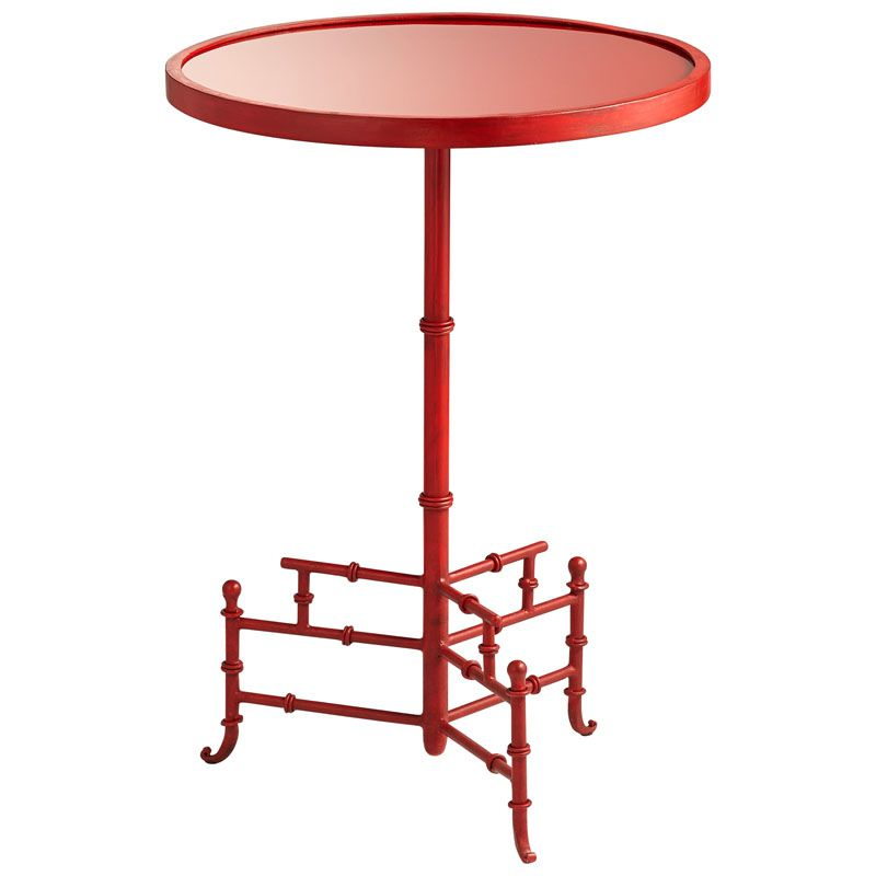 Cyan Design Liora Side Table Liora 16.25 Inch Diameter Iron and Glass