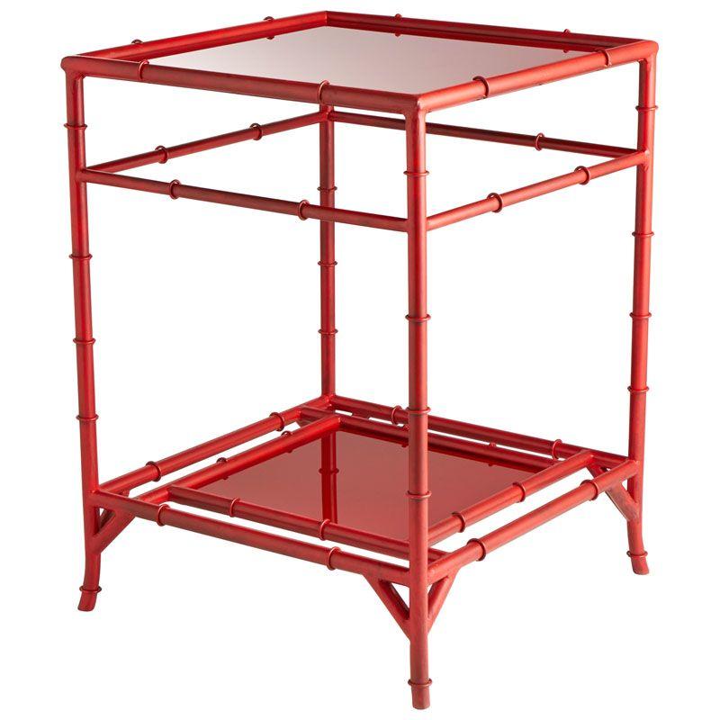 Cyan Design Akira Side Table Akira 18.25 Inch Long Iron and Glass Side