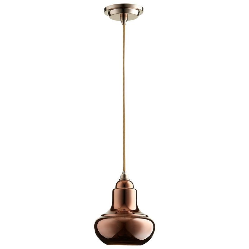Cyan Design Camille Pendant Camille 1 Light Pendant with Brown Shade
