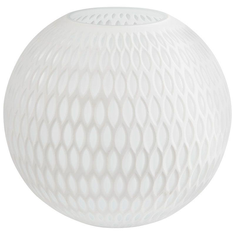 Cyan Design Small Tabitha Vase Tabitha 9.75 Inch Tall Glass Vase White