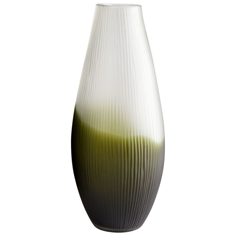 Cyan Design Large Benito Vase Benito 17.75 Inch Tall Glass Vase Green