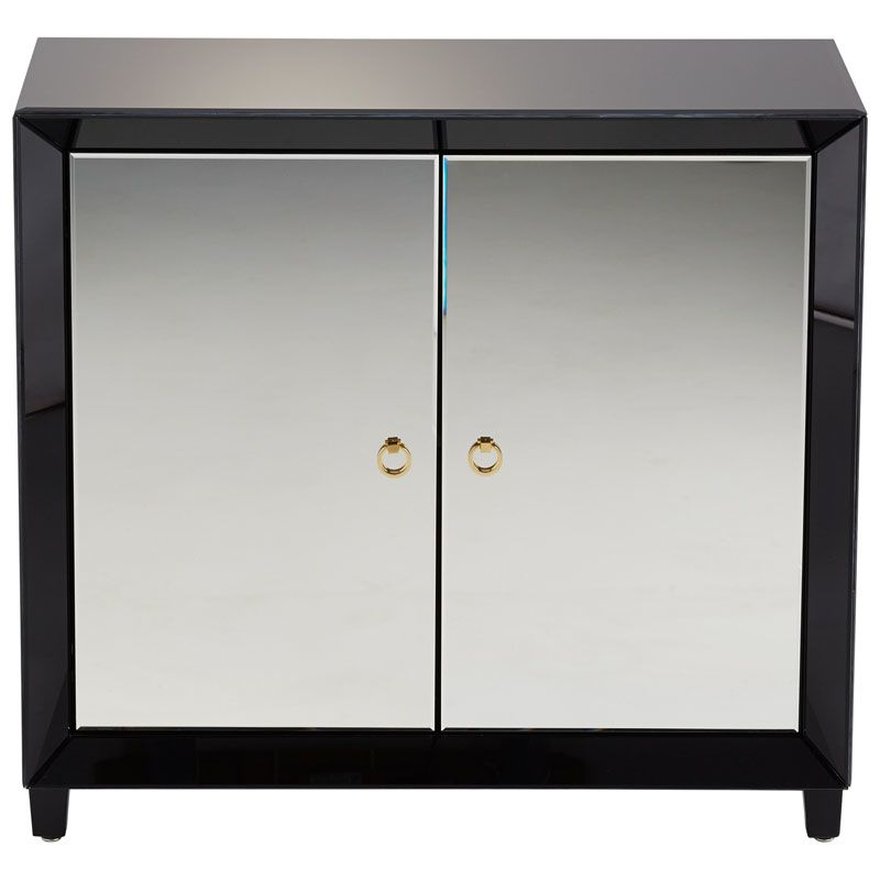 Cyan Design Omar Cabinet Omar 35.75 Inch Tall Wood and Mirrored Glass