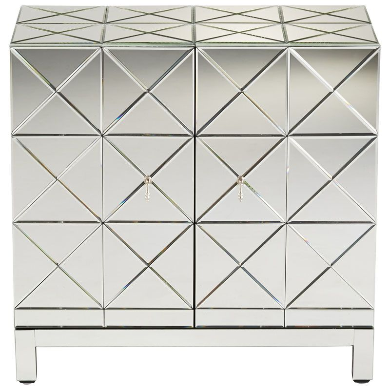 Cyan Design Adonis Cabinet Adonis 34.25 Inch Tall Wood and Mirrored