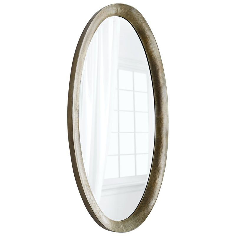 Cyan Design Huron Mirror 64 x 30 Huron Oval Iron Frame Mirror Silver