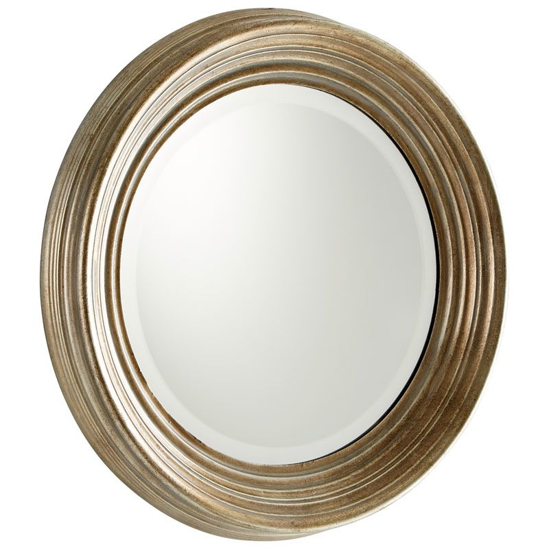 Cyan Design Marcy Mirror 7 Inch Diameter Marcy Wood Mirror Silver Home