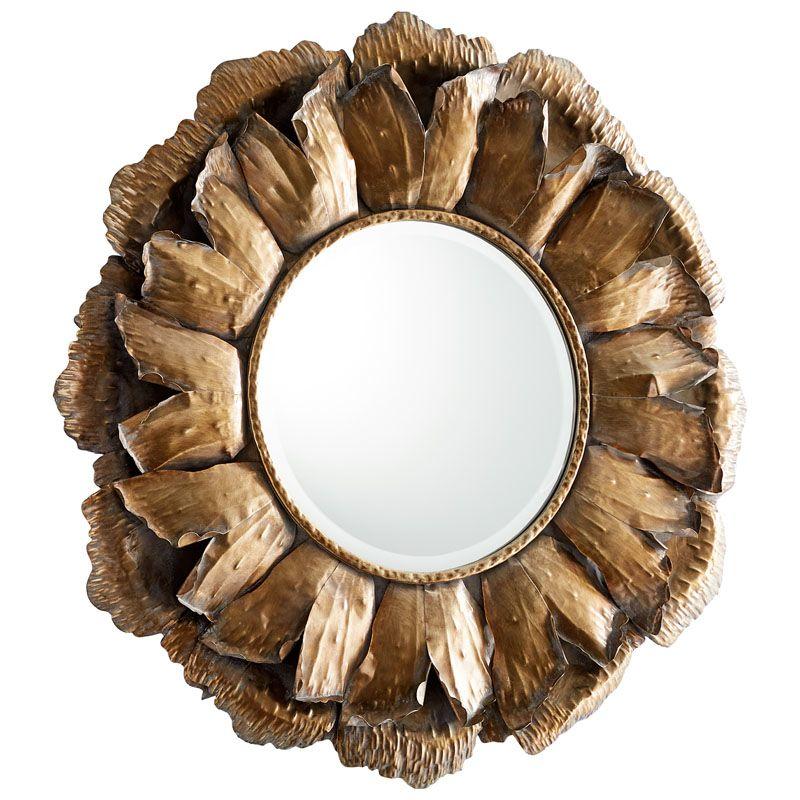 Cyan Design Sunny Mirror Sunny Circular Iron Frame Mirror Bronze Home