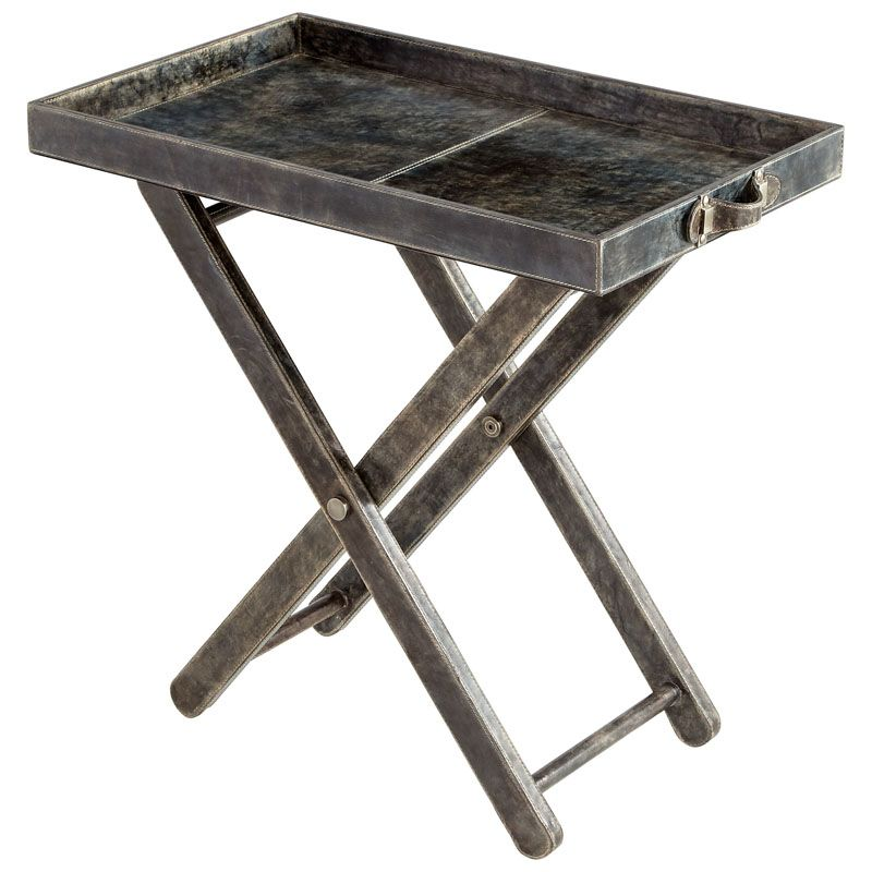 Cyan Design Maitre D Tray Table Maitre D´ 17 Inch Wide Wood and Metal Sale $1235.00 ITEM#: 2868595 MODEL# :8033 UPC#: 190808004239 :