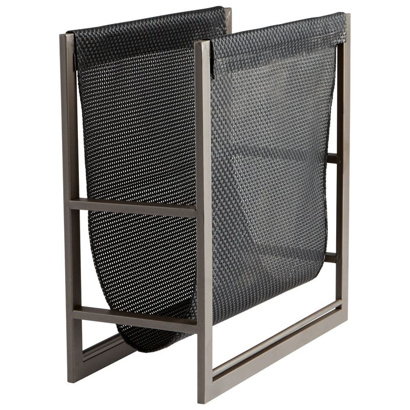 Cyan Design Mesh Magazine Rack Mesh 15.75 Inch Tall Poly and Iron