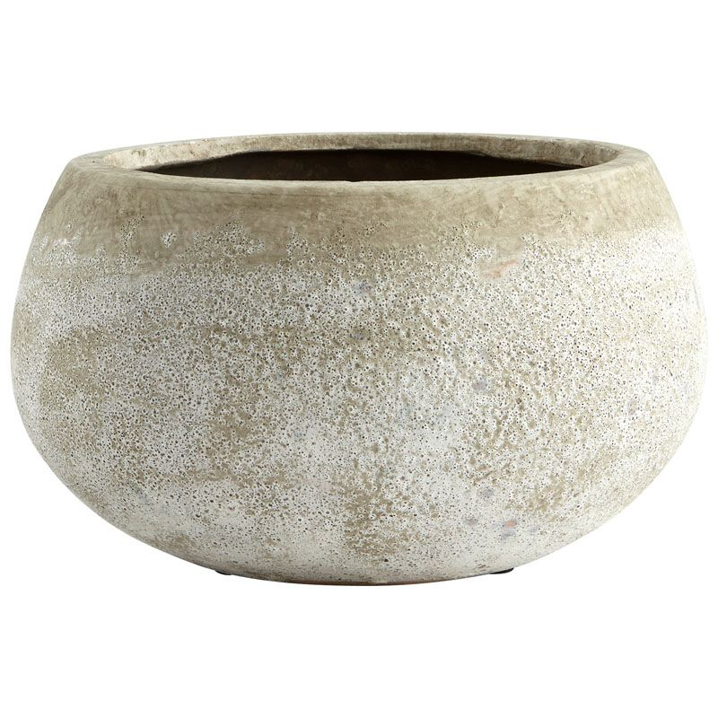 Cyan Design Small Round Stoney Planter Stoney 4.75 Inch Tall