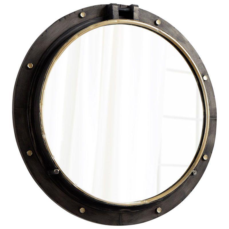Cyan Design Barrel Mirror 7 Inch Diameter Barrel Iron Mirror Canyon