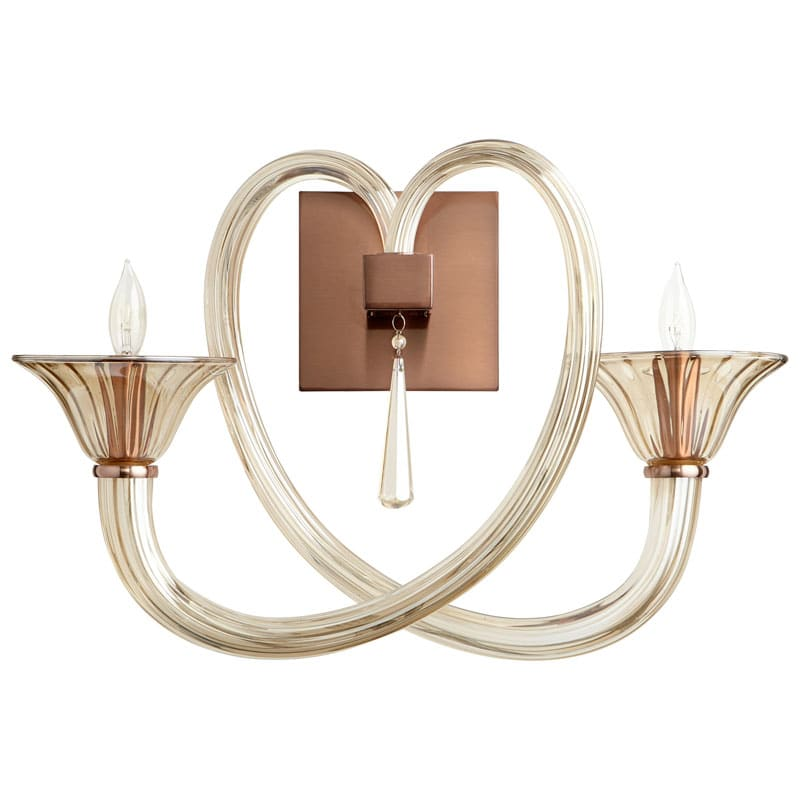 Cyan Design Amore Wall Bracket Amore 2 Light Wall Sconce with Shade