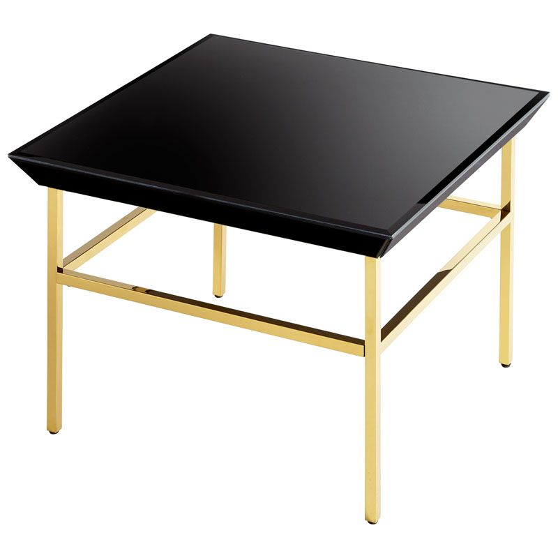 Cyan Design Calzada Side Table Calzada 27.5 Inch Long Brass and Black