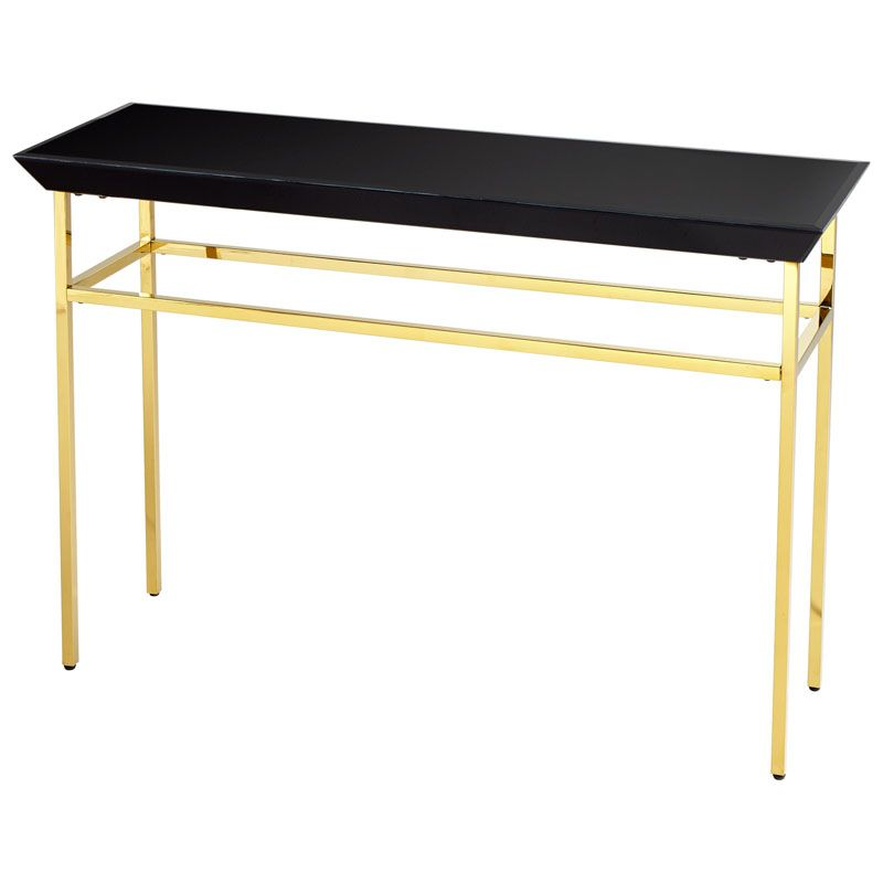 Cyan Design Calzada Console Table Calzada 48 Inch Long Brass and Black
