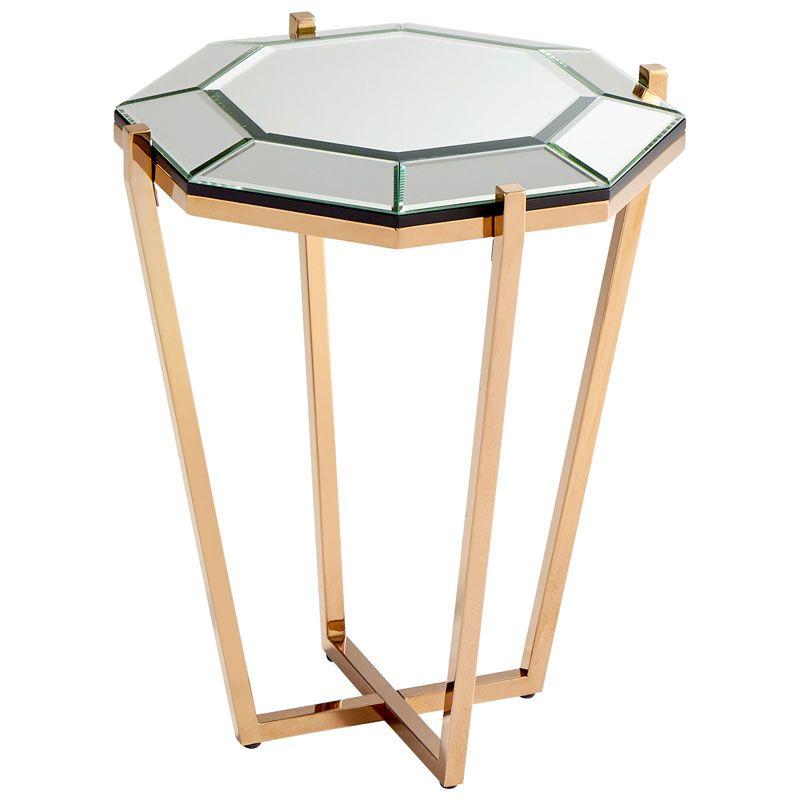Cyan Design Elara Side Table Elara 19.75 Inch Long Iron and Clear