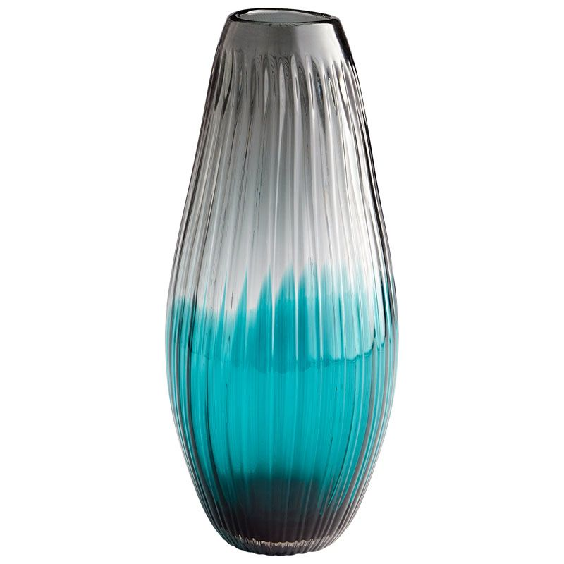 Cyan Design Serenity Sleek Vase Serenity 17 Inch Tall Glass Vase Blue