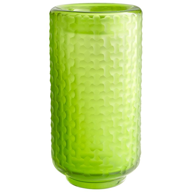 Cyan Design Large Lemon Lime Vase Lemon Lime 10.75 Inch Tall Glass