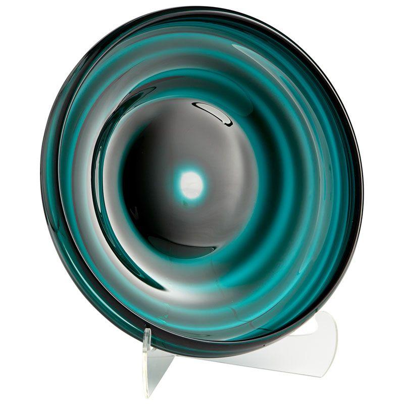 Cyan Design Medium Vertigo Plate Vertigo 20 Inch Diameter Glass