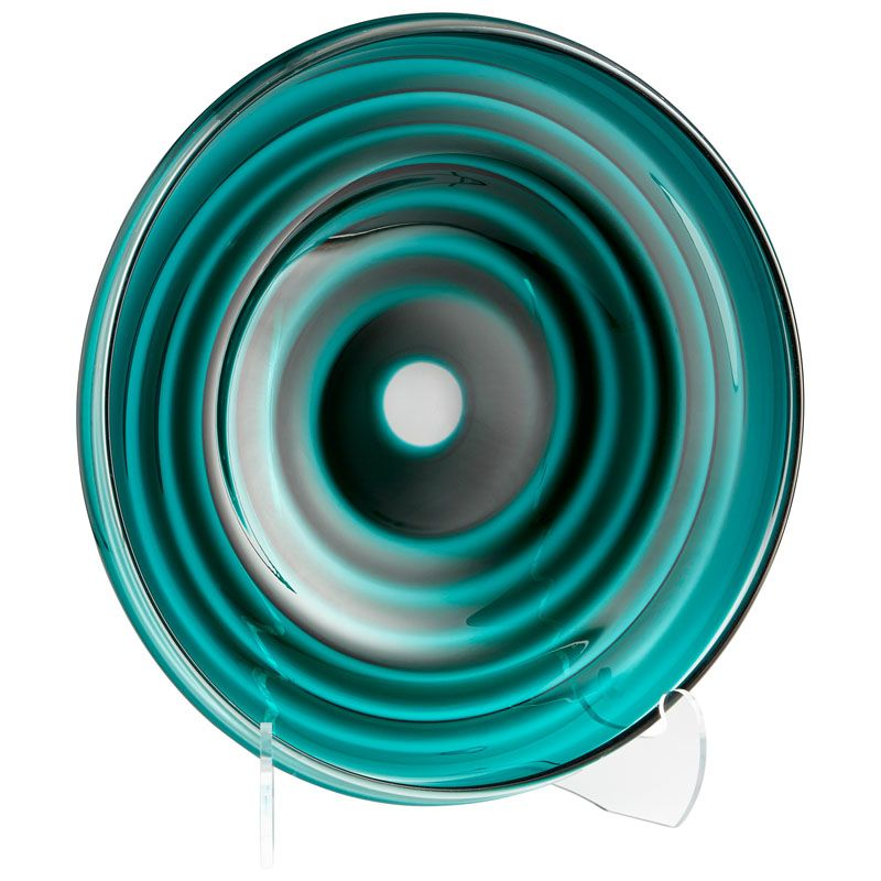 Cyan Design Large Vertigo Plate Vertigo 25.25 Inch Diameter Glass