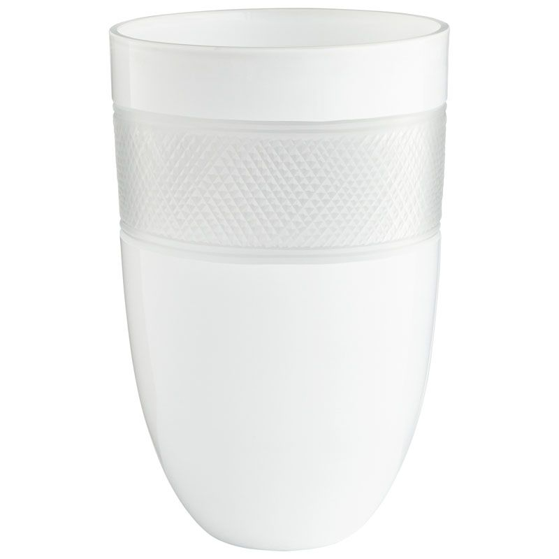 Cyan Design Medium Calypso Vase Calypso 12 Inch Tall Glass Vase White