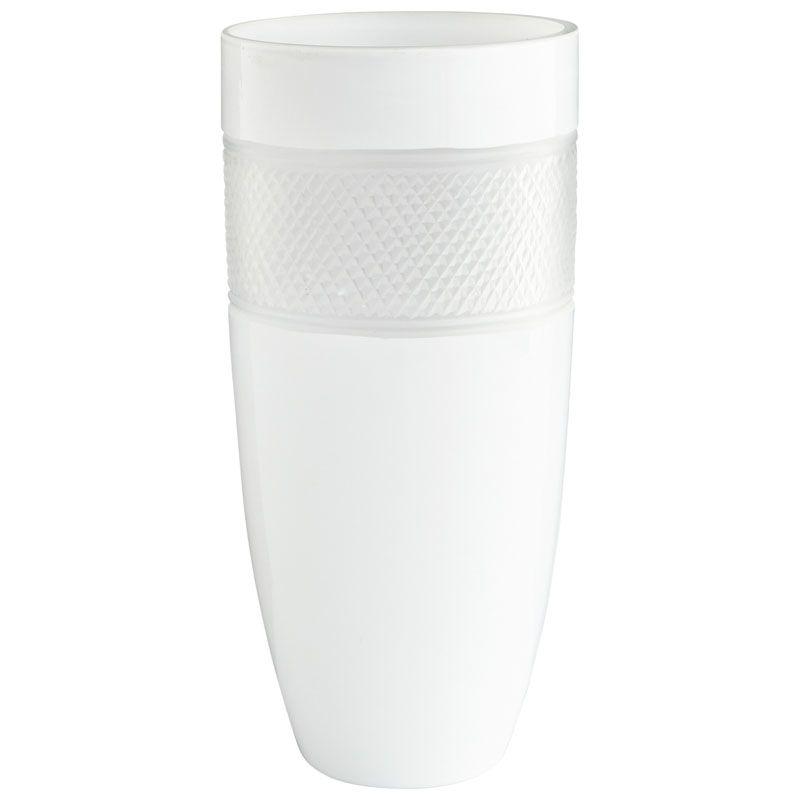 Cyan Design Large Calypso Vase Calypso 12.5 Inch Tall Glass Vase White