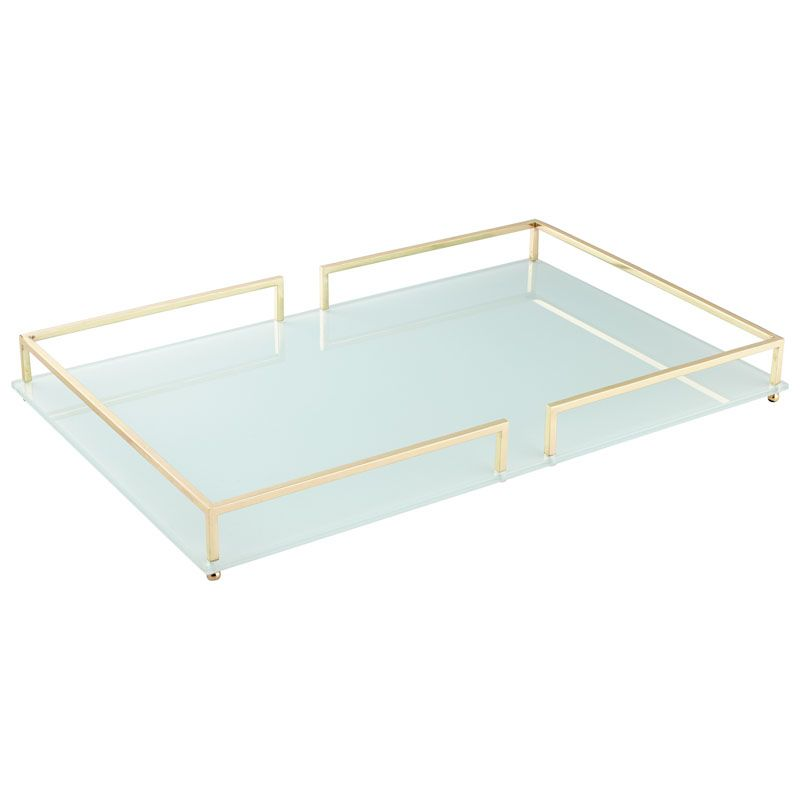 Cyan Design Small Contempo Noir Tray Contempo Noir 18 Inch Wide Iron