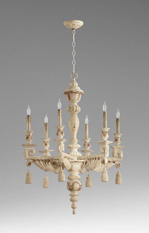 Cyan Design 06572 Brenton 6 Light Chandelier Persian White Indoor