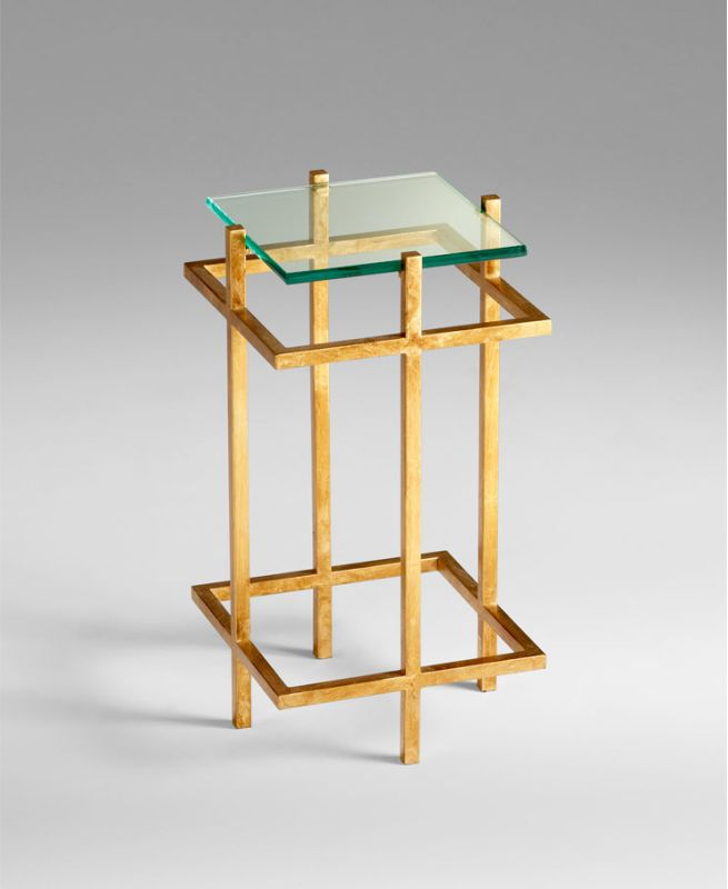 Cyan Design 04837 Gallery End Table Gold Leaf Furniture End Tables