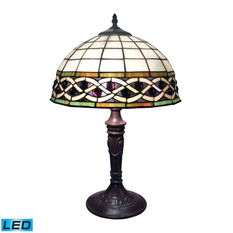 Dimond Lighting 70141-2-LED Tiffany Bronze 2 Light LED Table Lamp from the Angel Wing Collection