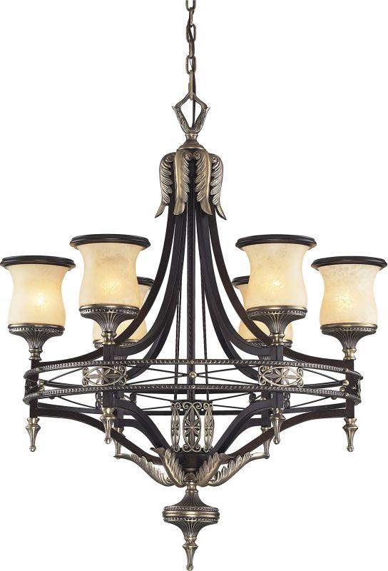 ELK Lighting 2431/6 6 Light Up Lighting Single Tier Chandelier with