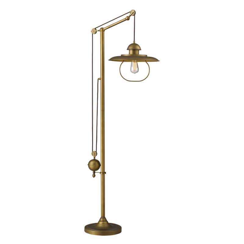 ELK Lighting 65101-1 Farmhouse Single-Light Floor Lamp Antique Brass