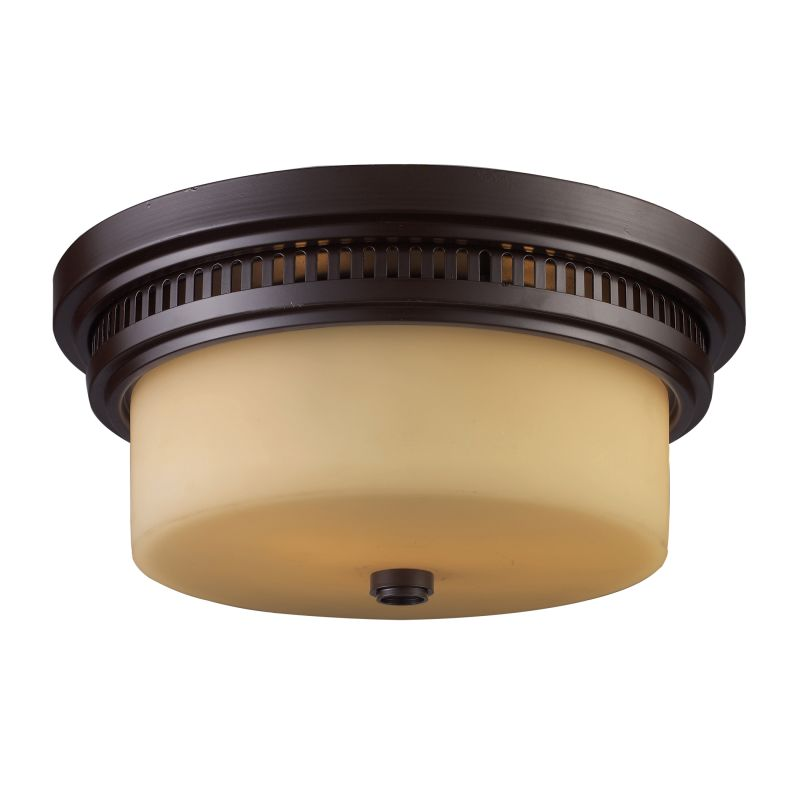 ELK Lighting 66131 Chadwick Two-Light Flushmount in Oiled Bronze Oiled