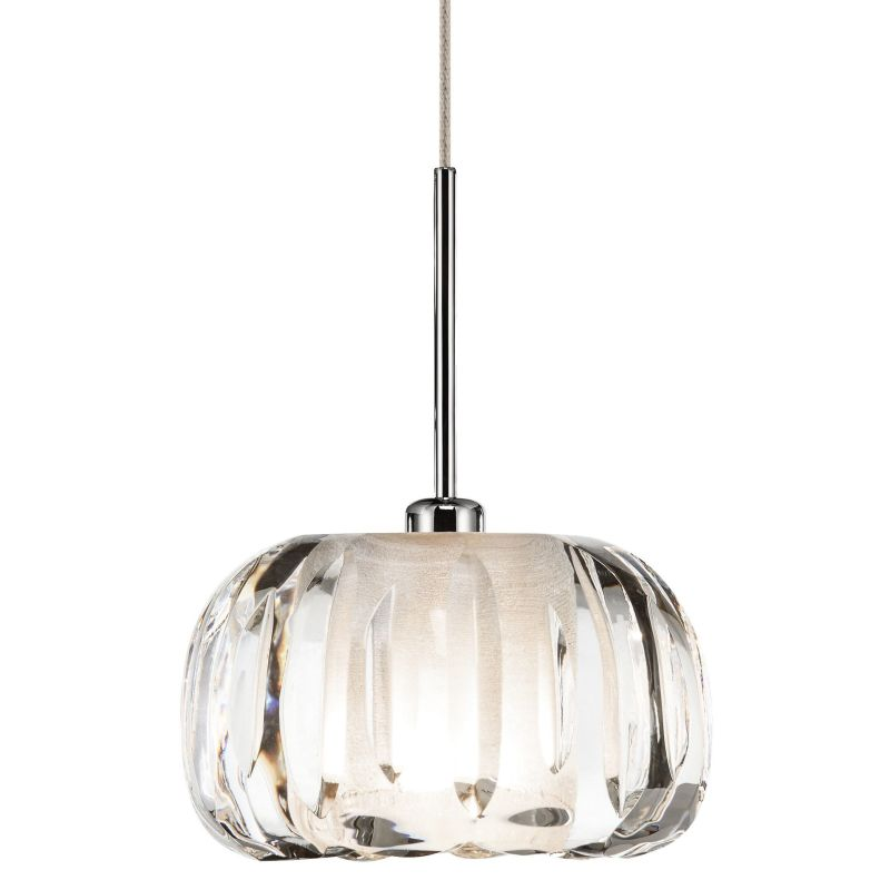 Elan Zucca Mini Pendant Zucca Mini Pendant Chrome Indoor Lighting